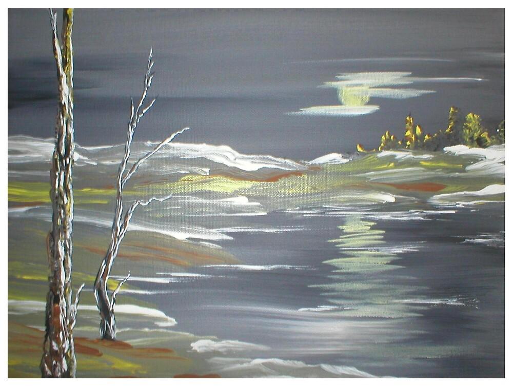 Cold Winter Lake by Ginger Lovellette