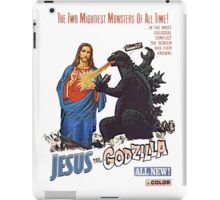Jesus vs. Godzilla  iPad Case/Skin