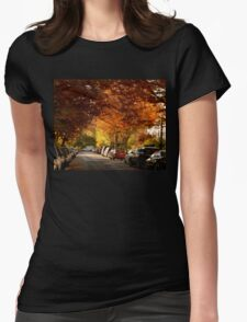 foliage in the city Womens Fitted T-Shirt