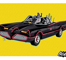 Batman '66 - Batmobile by averagejoeart