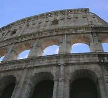 Closeup view of the Colosseum by mike1070
