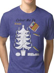 Colour me Xmas Tree  Tri-blend T-Shirt