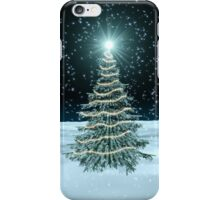 Christmas Tree on Snowy Landscape iPhone Case/Skin