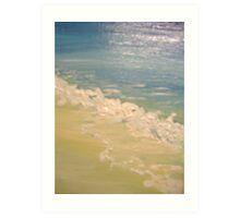 frothy tide Art Print