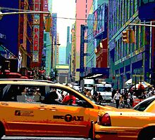 NYC Taxis by debbienobile
