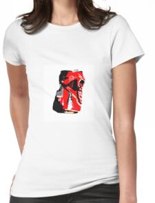 Red Can Womens Fitted T-Shirt