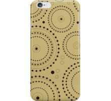 Circles in Circles Design Black on Light Gold iPhone Case/Skin