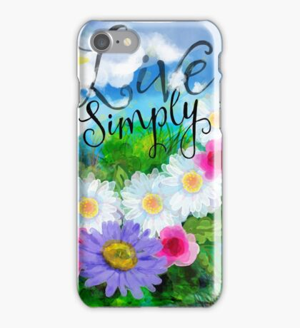 Live Simply watercolor iPhone Case/Skin