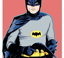 Batman '66 - Batman by averagejoeart