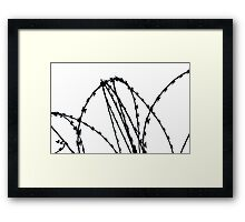 Razor Wire Framed Print