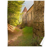 Chateau de Losse castle wall Poster