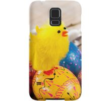 Easter eggss and yellow fluffy chickens  Samsung Galaxy Case/Skin
