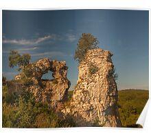 Montfort Rock Formations Poster
