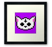PIXEL - Satanic chibi cat Framed Print