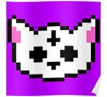 PIXEL - Satanic chibi cat Poster