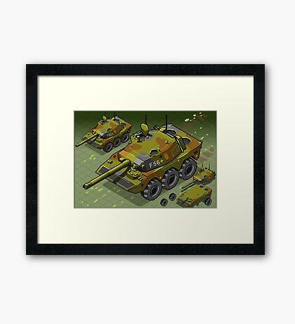 Isometric Tank Two Version Framed Print