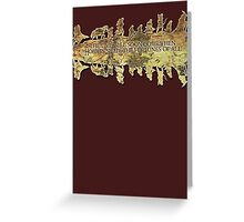 Lord of the Rings Middle Earth Map Cut out Greeting Card