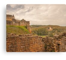 Chateau Commarque Canvas Print