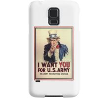 I Want You! Uncle Sam Wants You, USA, War, Recruitment Poster Samsung Galaxy Case/Skin