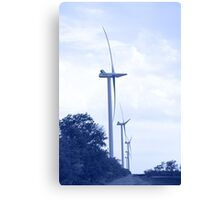 Wind energie. Toned. Canvas Print