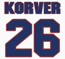 Basketball player Kyle Korver jersey 26 by imsport