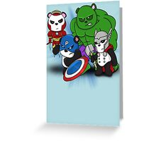 The PandAvengers Greeting Card