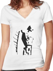 Silent Guardian Women's Fitted V-Neck T-Shirt