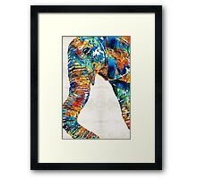 Colorful Elephant Art by Sharon Cummings Framed Print