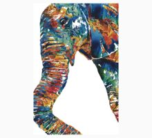 Colorful Elephant Art by Sharon Cummings Kids Clothes