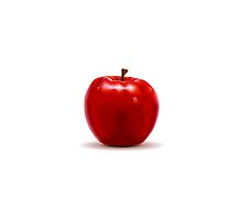 Red Apple Isolated on White by aurielaki
