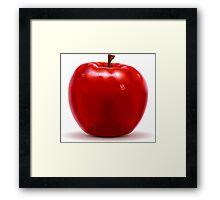Red Apple Isolated on White Framed Print