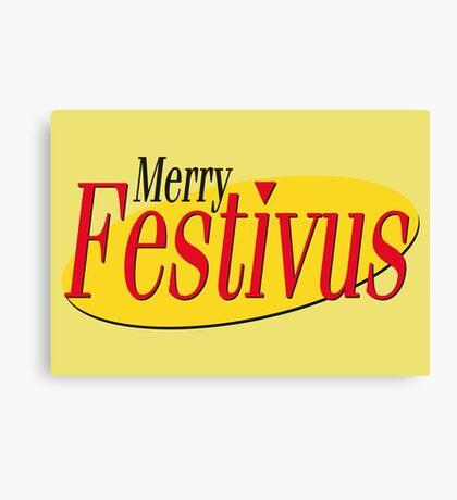merry festivus (red) Canvas Print