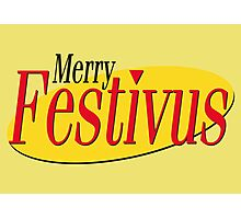 merry festivus (red) Photographic Print