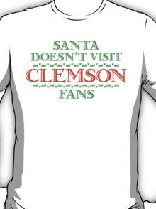Santa Doesen't Visit Clemson Fans T-Shirt