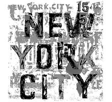 NYC paint chip by Tai's Tees Photographic Print