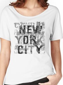NYC paint chip by Tai's Tees Women's Relaxed Fit T-Shirt