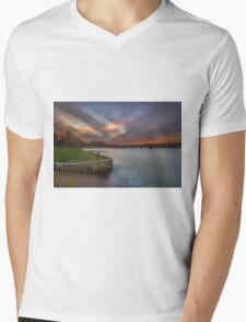 Fishbourne Sunset Mens V-Neck T-Shirt