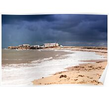 View of stormy seascape. Poster