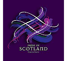 Pride of Scotland Tartan Twist Photographic Print