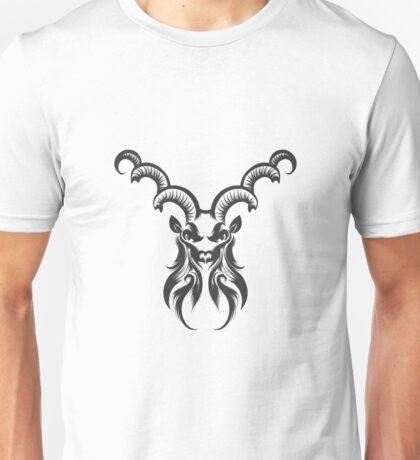 Capricorn Head Engraving Illustration Unisex T-Shirt