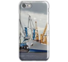 ship and cranes iPhone Case/Skin
