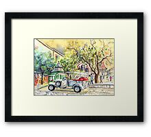A Beautiful Car In Budapest Framed Print