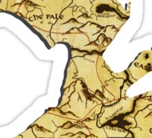 Elder Scrolls Skyrim Map in Dragon Cut-Out Sticker