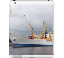 Ship and cranes iPad Case/Skin