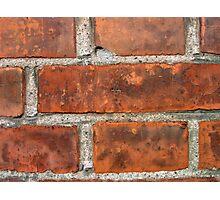 Wall of brown bricks Photographic Print