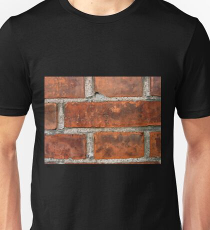 Wall of brown bricks Unisex T-Shirt