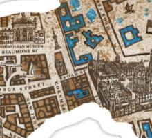 Distressed Maps: His Dark Materials Lyra's Oxford Sticker