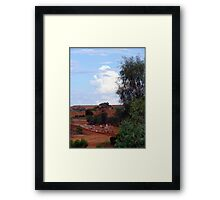 Colours of the Outback Framed Print