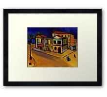 Van Goghs house at arles (from my original acrylic painting) digitally enhanced) Framed Print