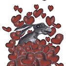 HARE IN HEARTS h3310 by Hares & Critters